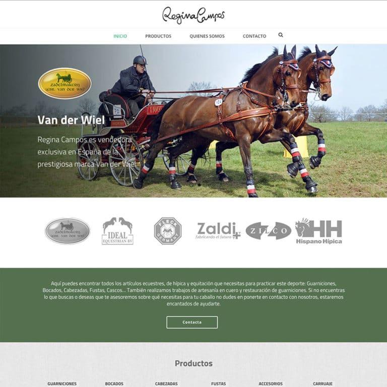diseño pagina web tienda hípica guarnicionería