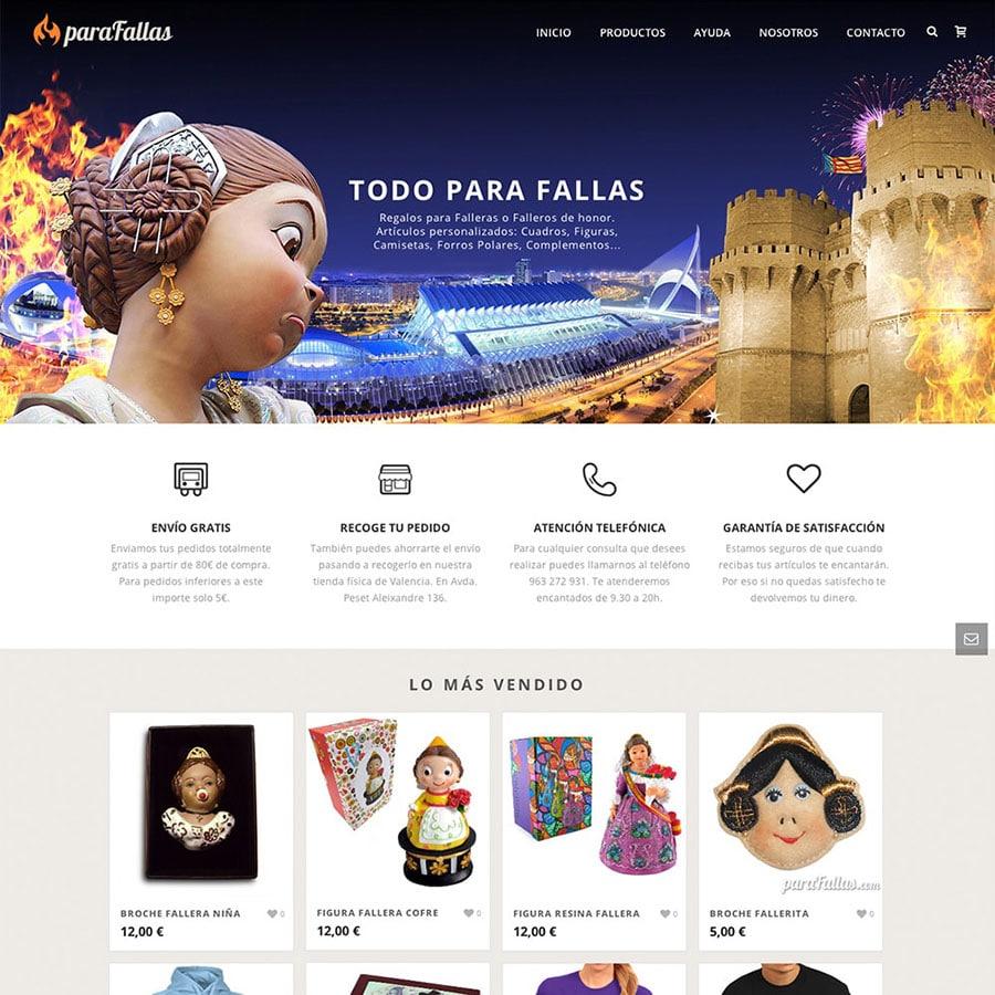 diseño paginas web fallas