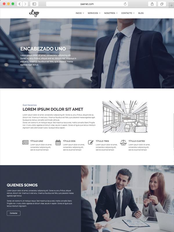 Plantilla página de inicio corporativa